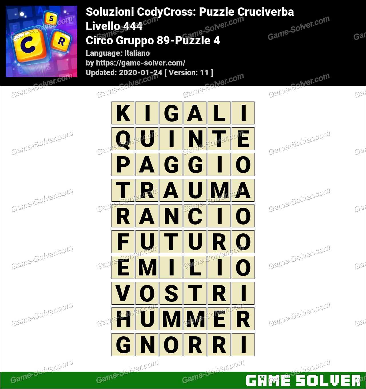 Soluzioni CodyCross Circo Gruppo 89-Puzzle 4
