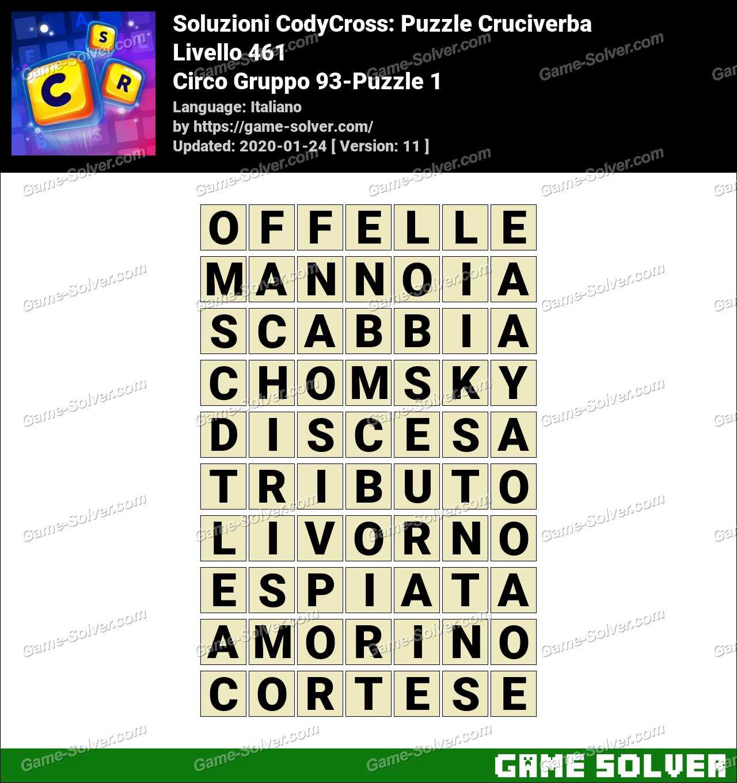 Soluzioni CodyCross Circo Gruppo 93-Puzzle 1