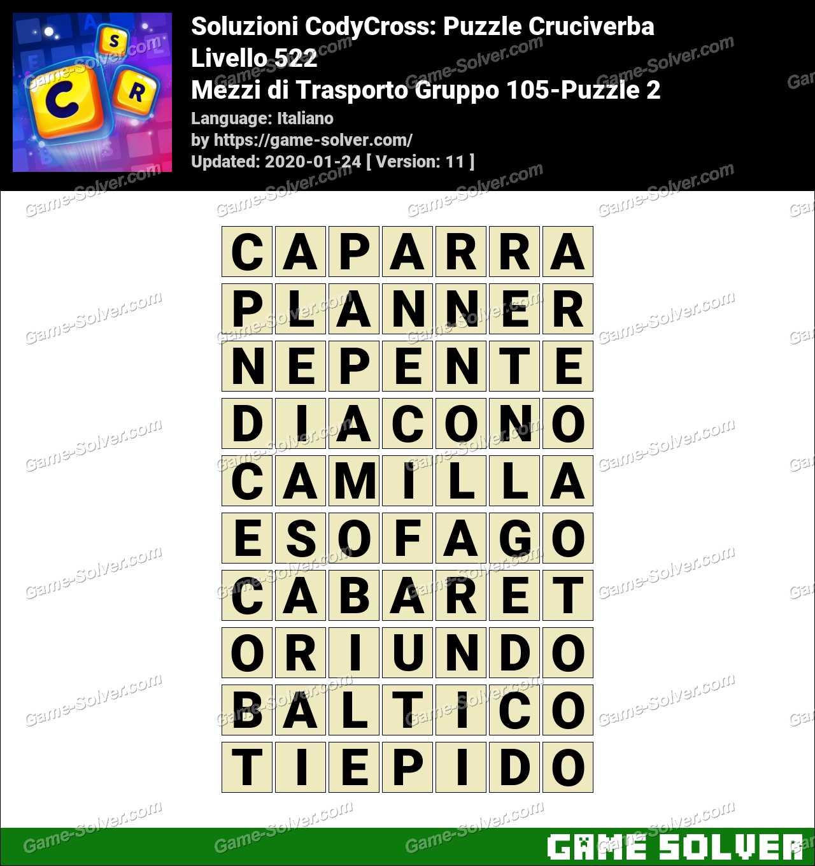 Soluzioni CodyCross Mezzi di Trasporto Gruppo 105-Puzzle 2