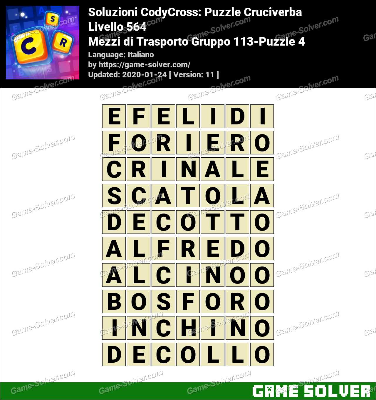 Soluzioni CodyCross Mezzi di Trasporto Gruppo 113-Puzzle 4