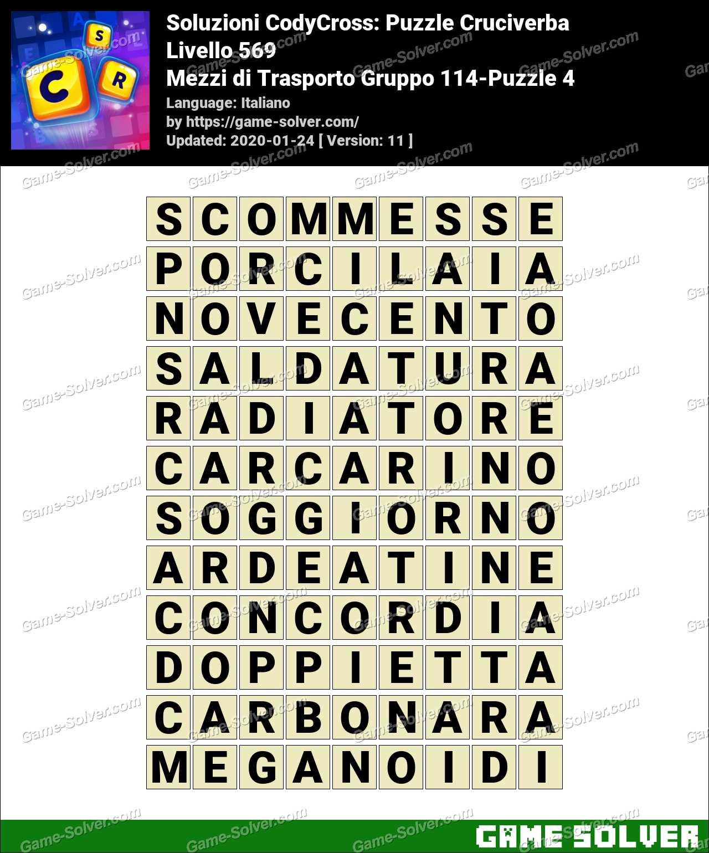 Soluzioni CodyCross Mezzi di Trasporto Gruppo 114-Puzzle 4