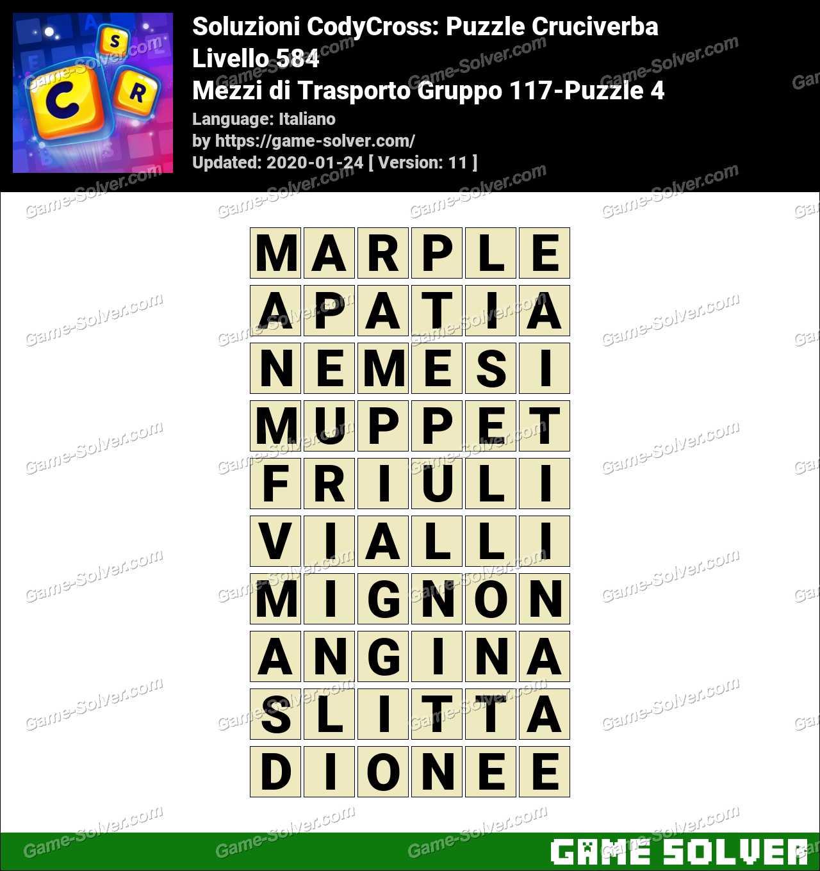 Soluzioni CodyCross Mezzi di Trasporto Gruppo 117-Puzzle 4