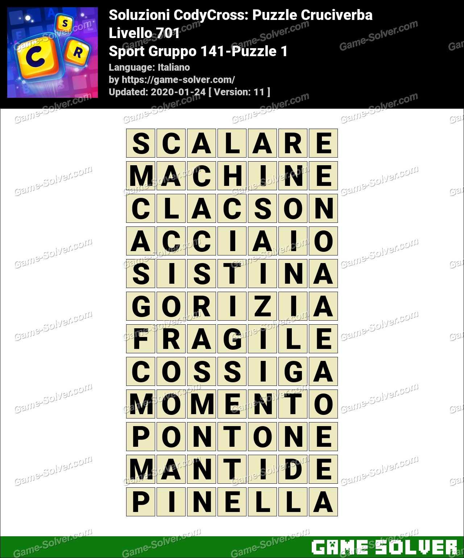 Soluzioni CodyCross Sport Gruppo 141-Puzzle 1