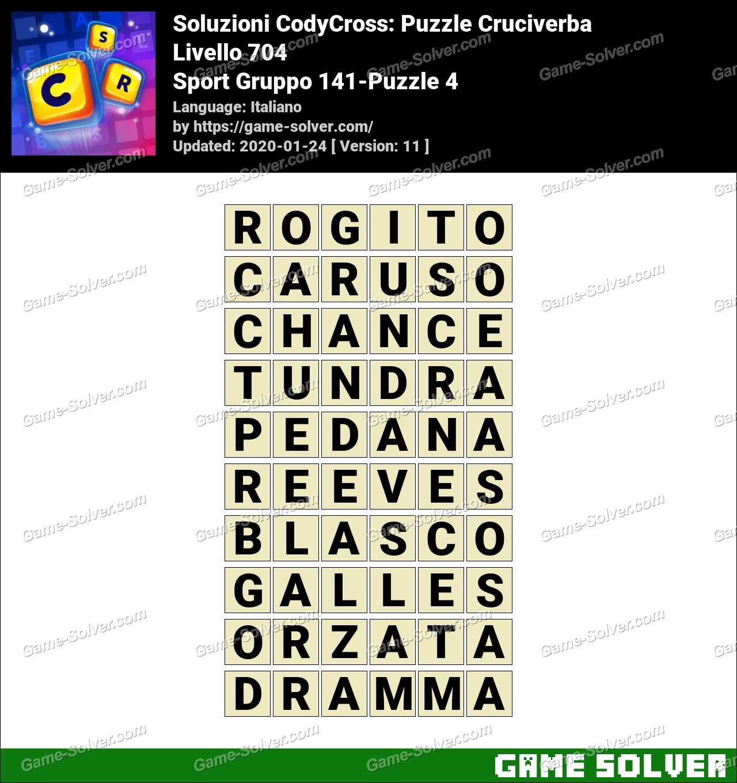 Soluzioni CodyCross Sport Gruppo 141-Puzzle 4
