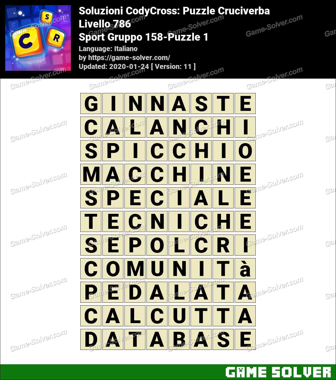 Soluzioni CodyCross Sport Gruppo 158-Puzzle 1