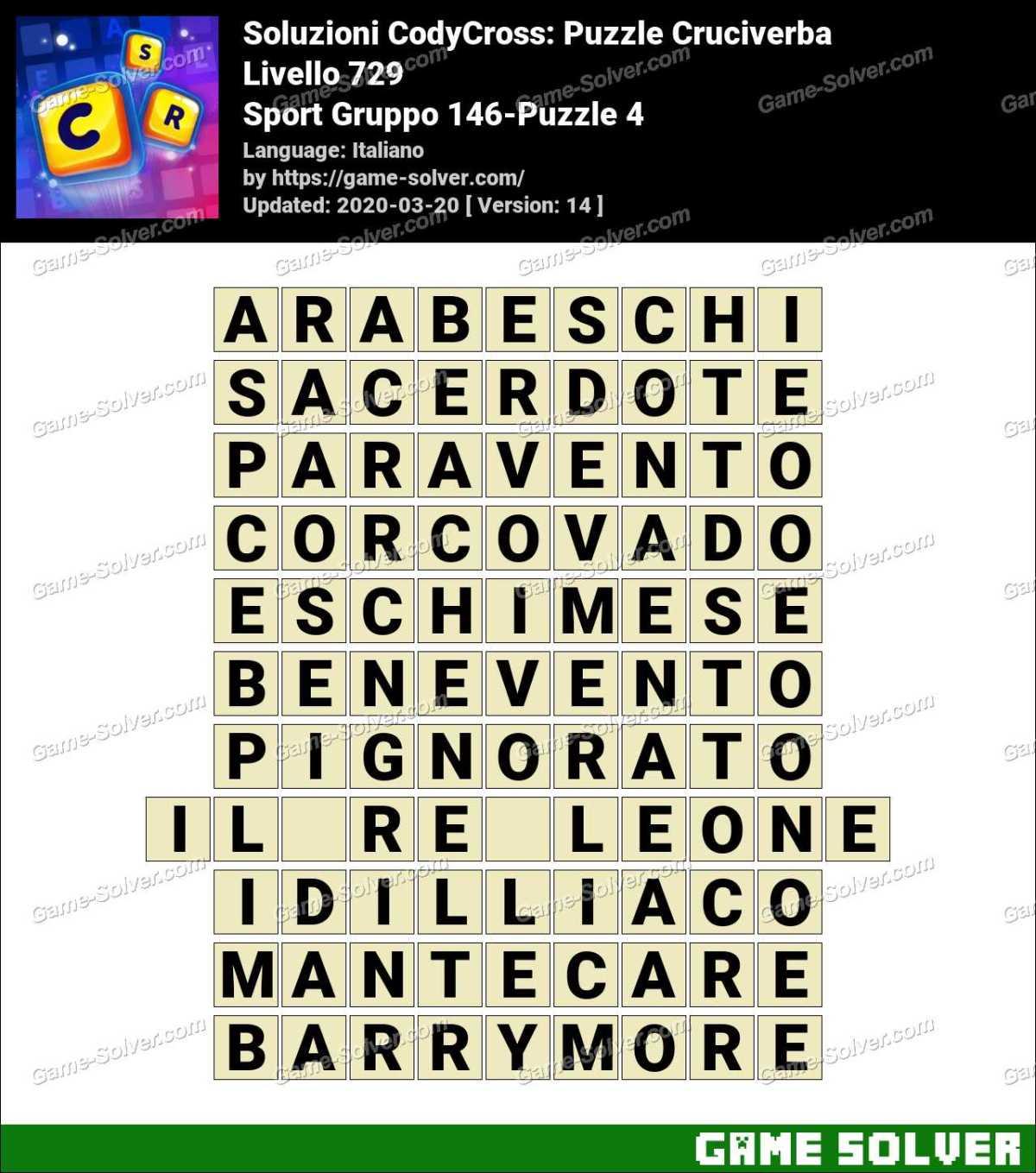 Soluzioni CodyCross Sport Gruppo 146-Puzzle 4