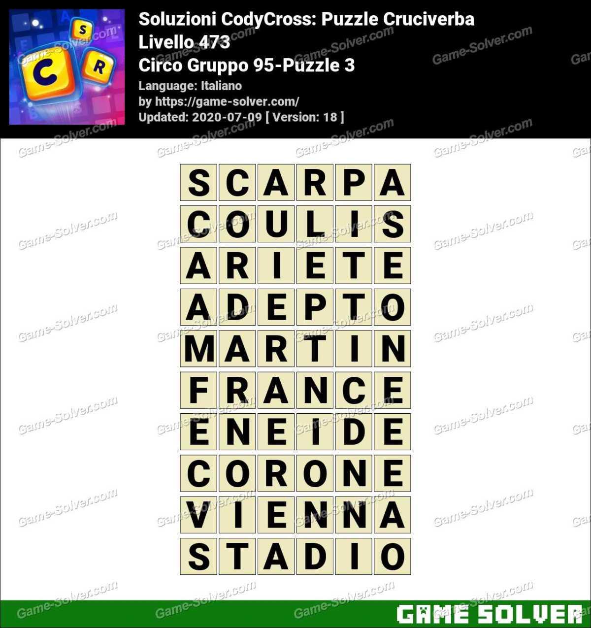 Soluzioni CodyCross Circo Gruppo 95-Puzzle 3
