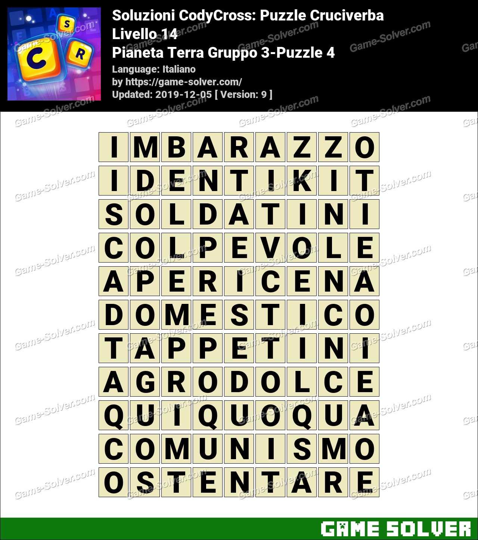 Soluzioni CodyCross Pianeta Terra Gruppo 3-Puzzle 4