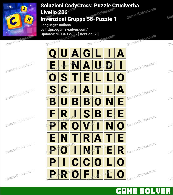 Soluzioni CodyCross Invenzioni Gruppo 58-Puzzle 1