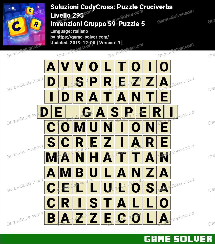 Soluzioni CodyCross Invenzioni Gruppo 59-Puzzle 5