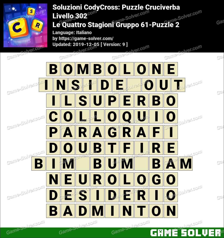 Soluzioni CodyCross Le Quattro Stagioni Gruppo 61-Puzzle 2