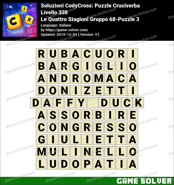 Soluzioni CodyCross Le Quattro Stagioni Gruppo 68-Puzzle 3