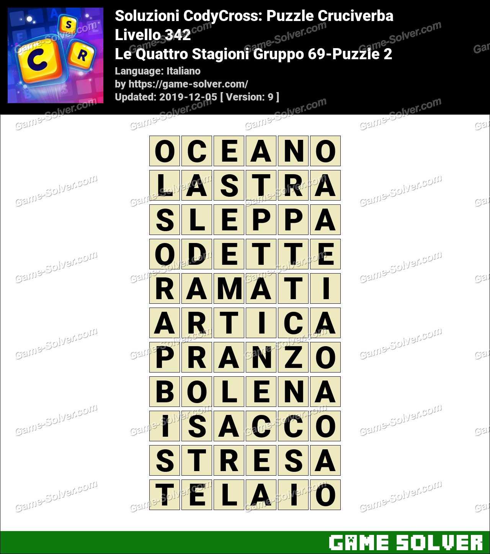 Soluzioni CodyCross Le Quattro Stagioni Gruppo 69-Puzzle 2