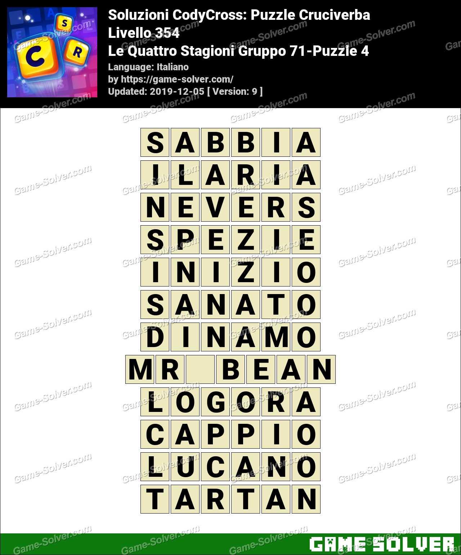 Soluzioni CodyCross Le Quattro Stagioni Gruppo 71-Puzzle 4