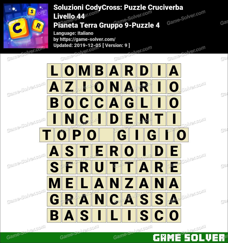 Soluzioni CodyCross Pianeta Terra Gruppo 9-Puzzle 4