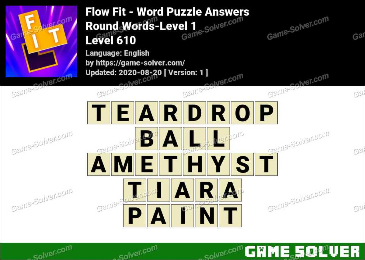 Flow Fit Round Words-Level 1 Answers