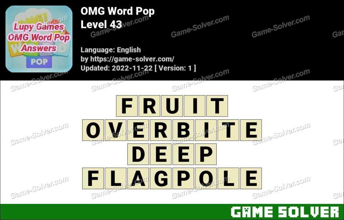 OMG Word Pop Level 43 Answers