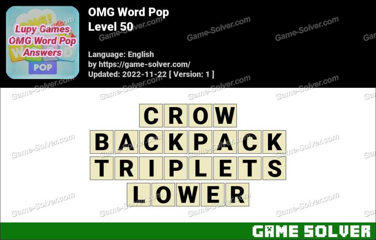 OMG Word Pop Level 50 Answers