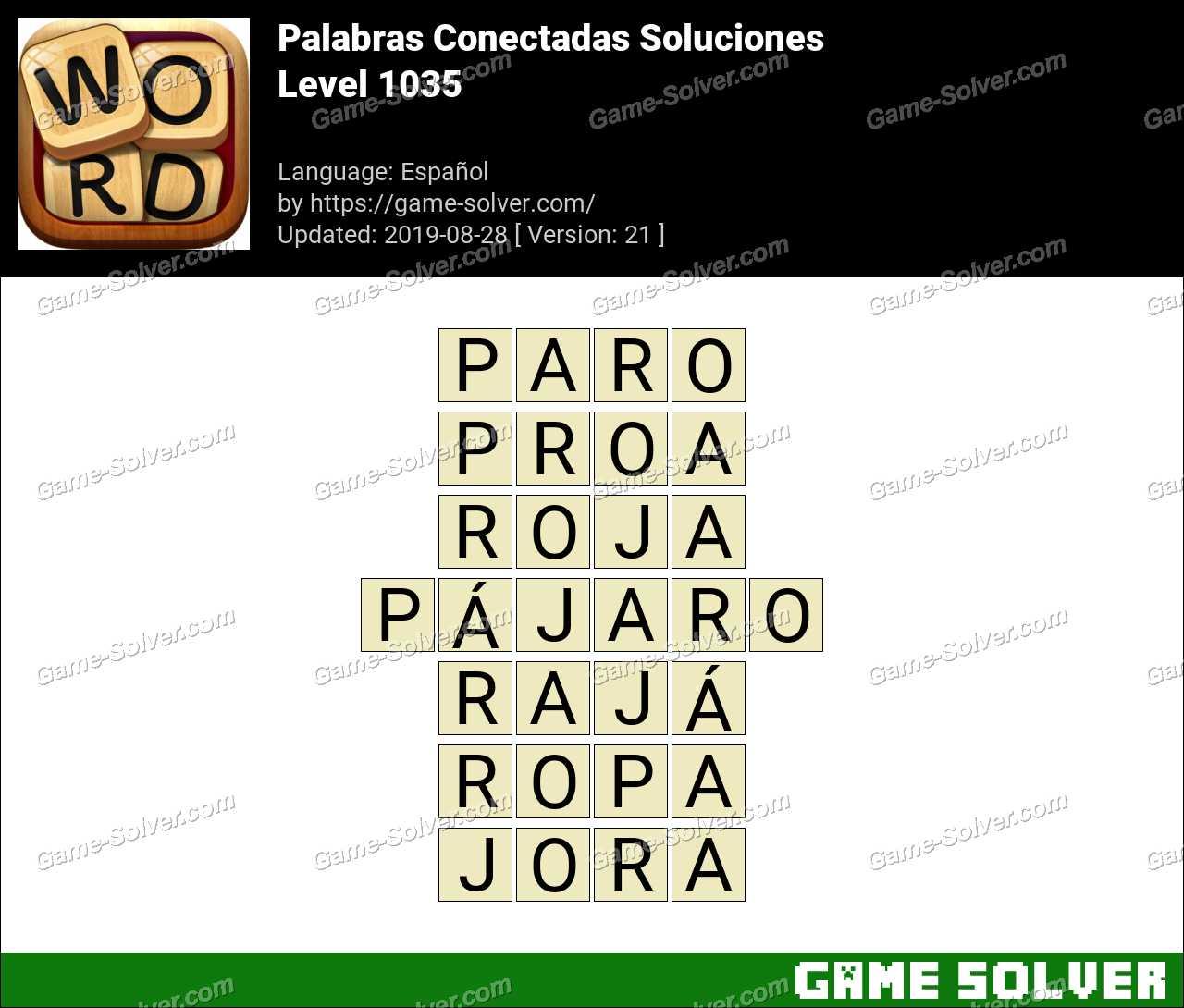 Palabras Conectadas Nivel 1035 Soluciones
