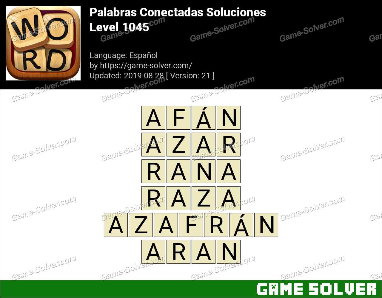 Palabras Conectadas Nivel 1045 Soluciones