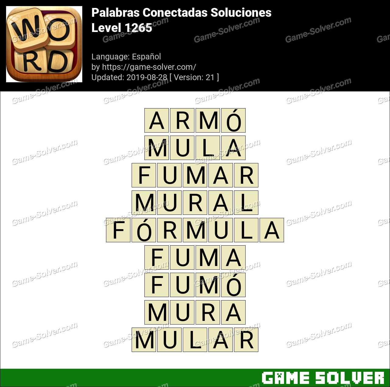 Palabras Conectadas Nivel 1265 Soluciones