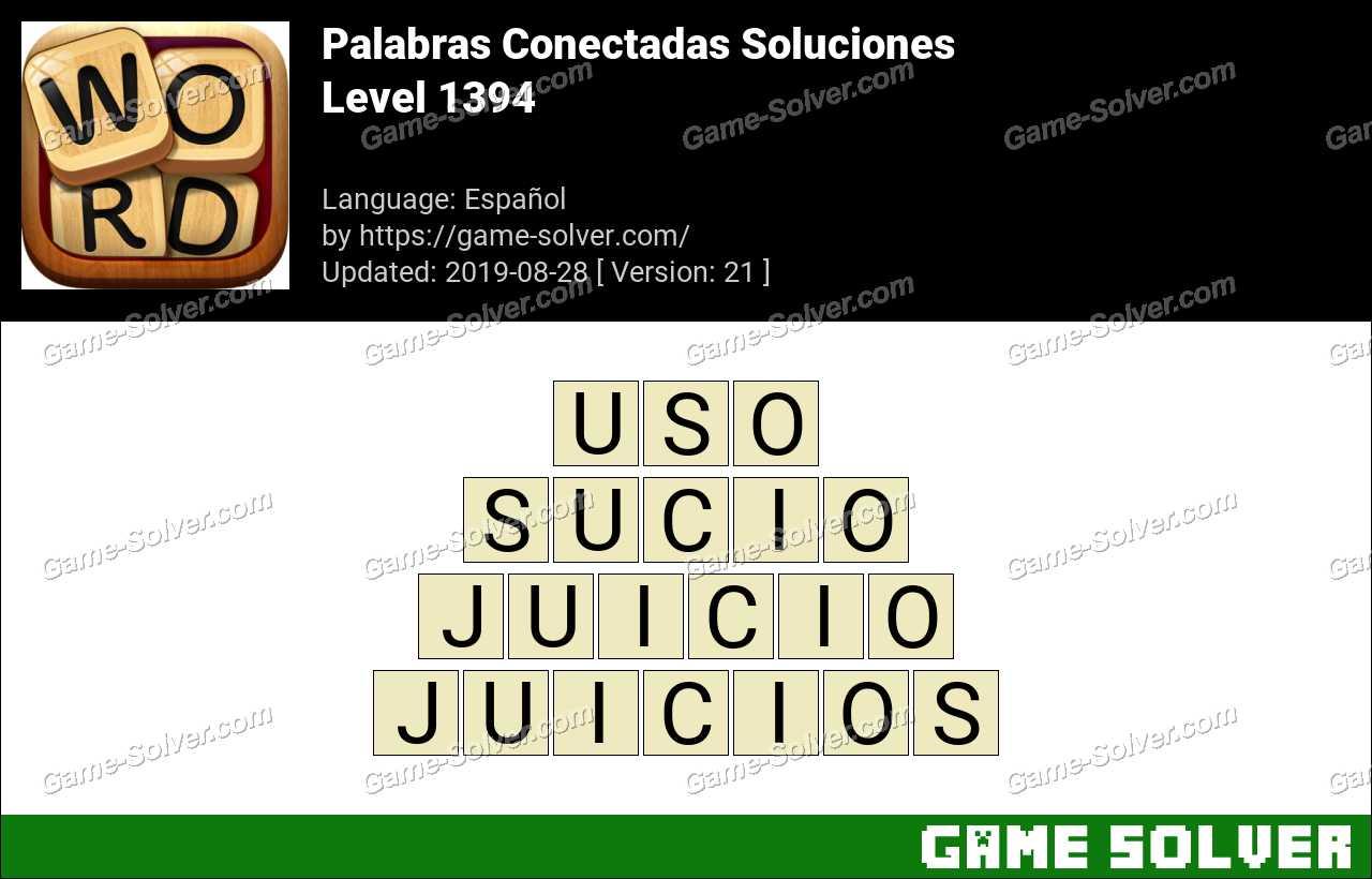Palabras Conectadas Nivel 1394 Soluciones