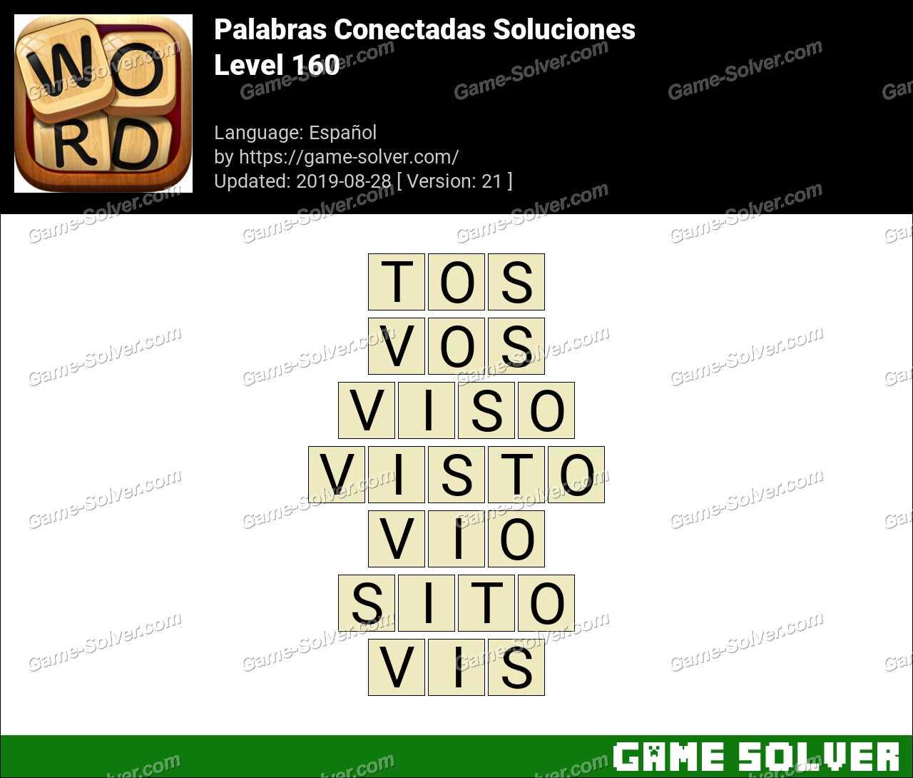 Palabras Conectadas Nivel 160 Soluciones
