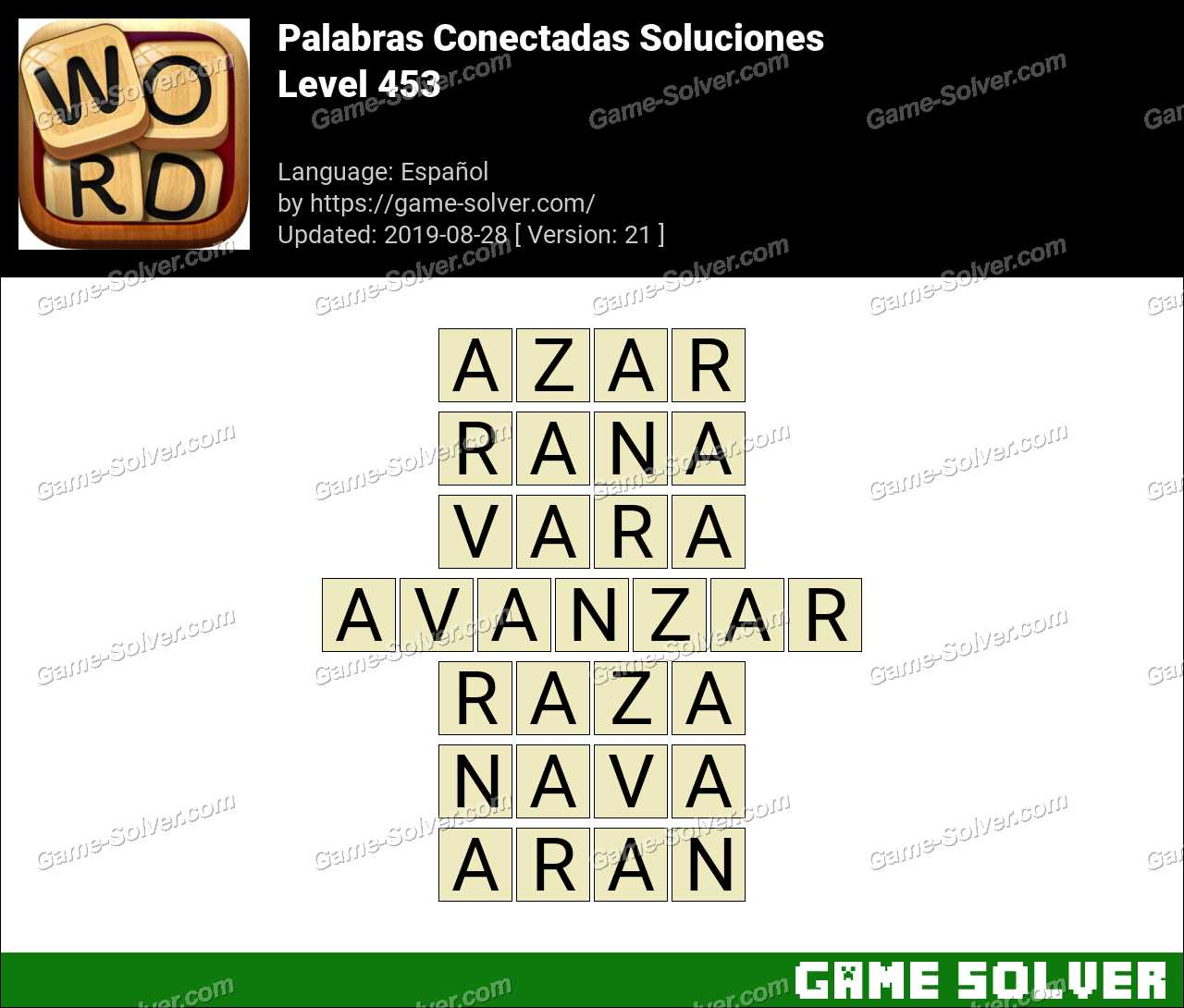 Palabras Conectadas Nivel 453 Soluciones
