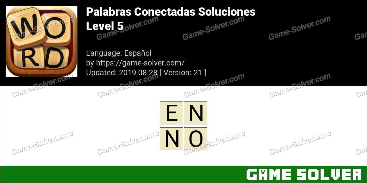 Palabras Conectadas Nivel 5 Soluciones