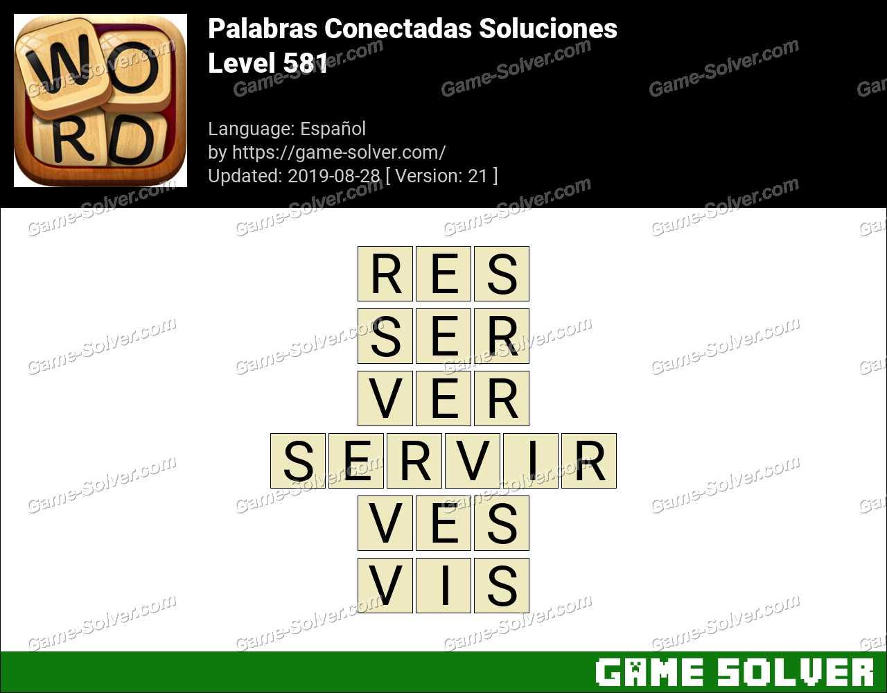 Palabras Conectadas Nivel 581 Soluciones