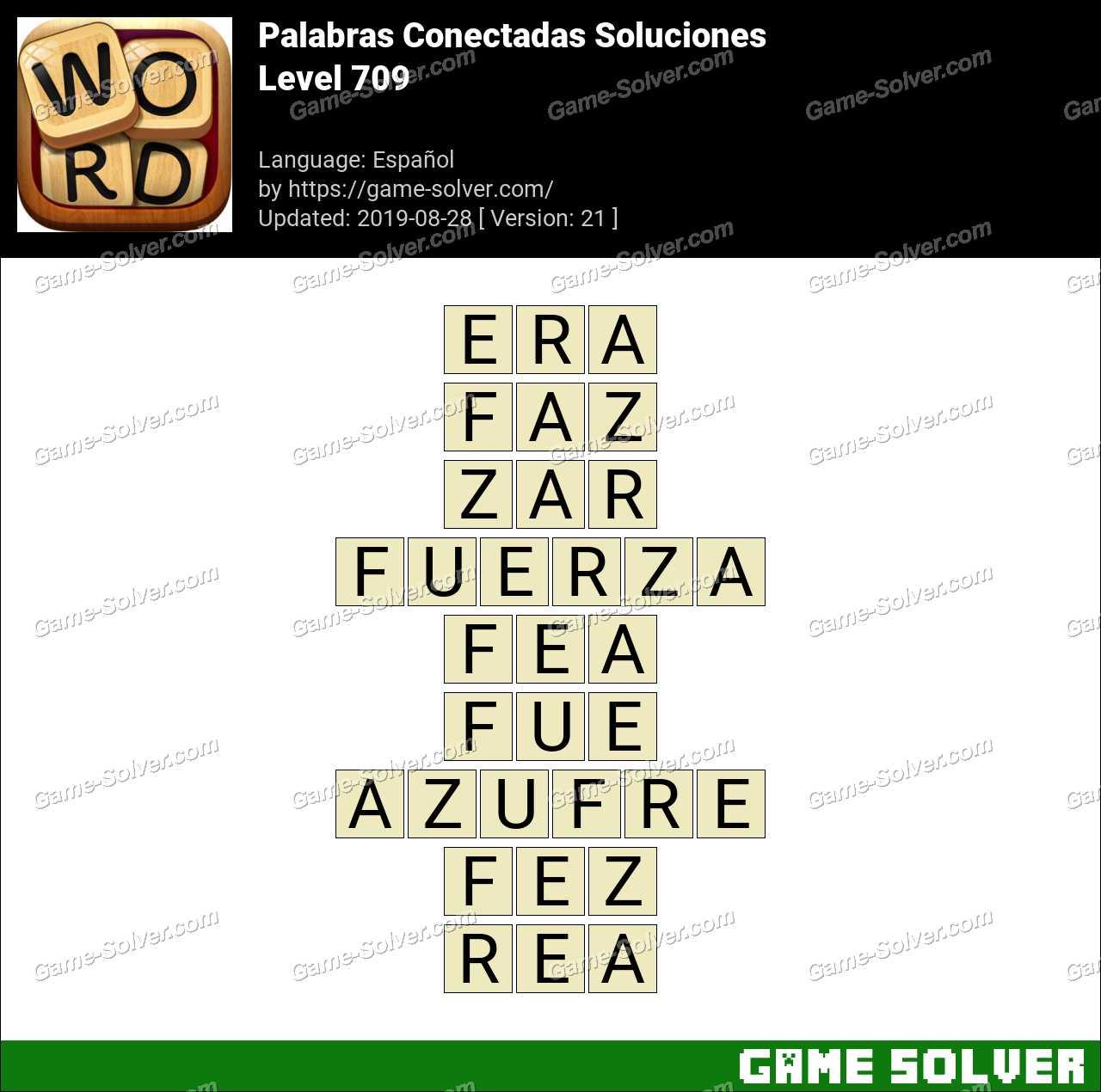 Palabras Conectadas Nivel 709 Soluciones