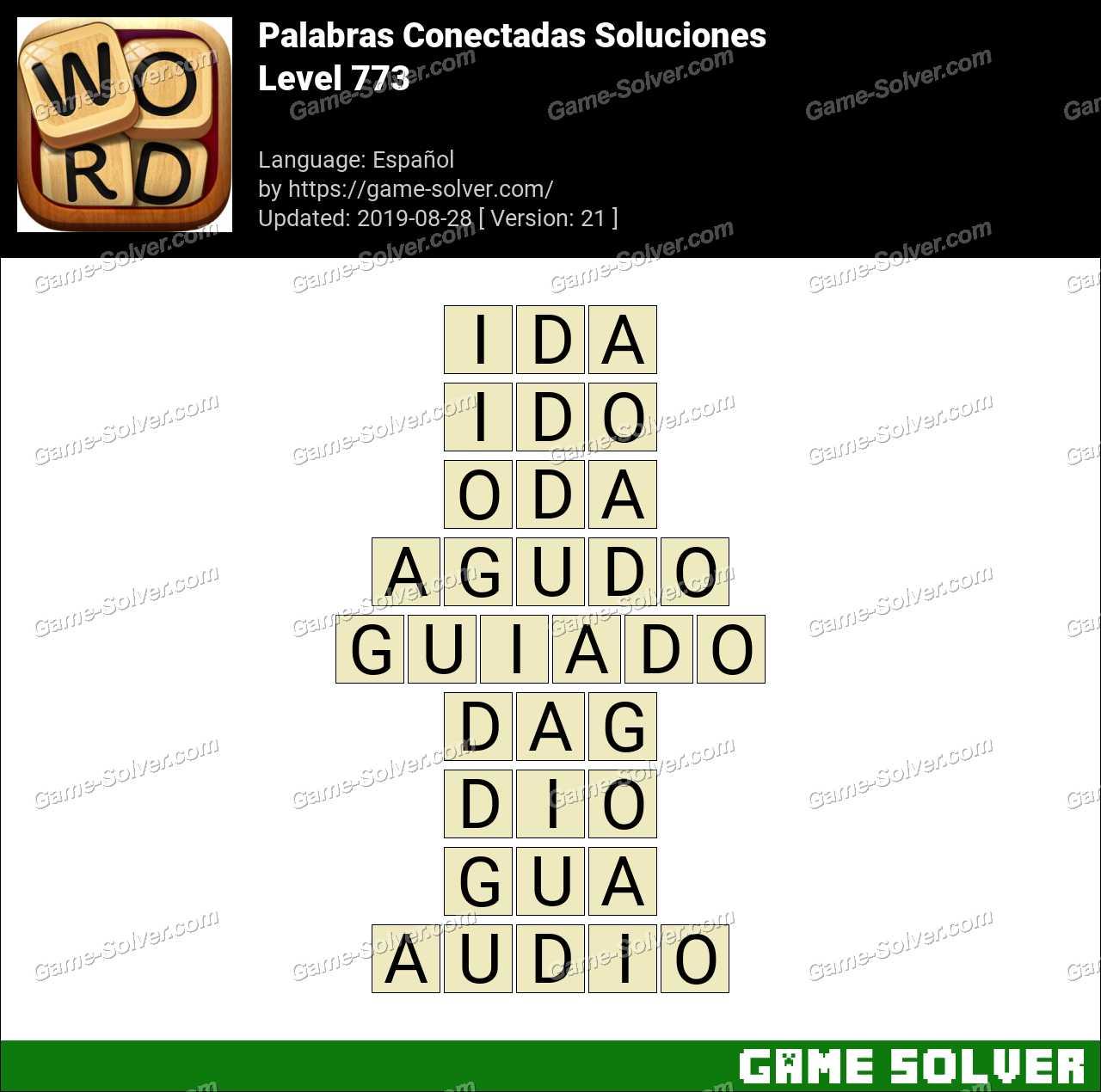 Palabras Conectadas Nivel 773 Soluciones