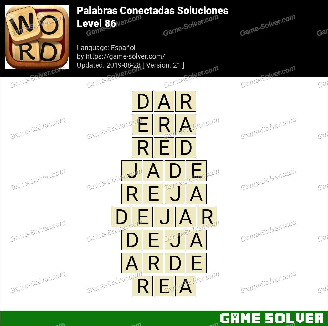 Palabras Conectadas Nivel 86 Soluciones