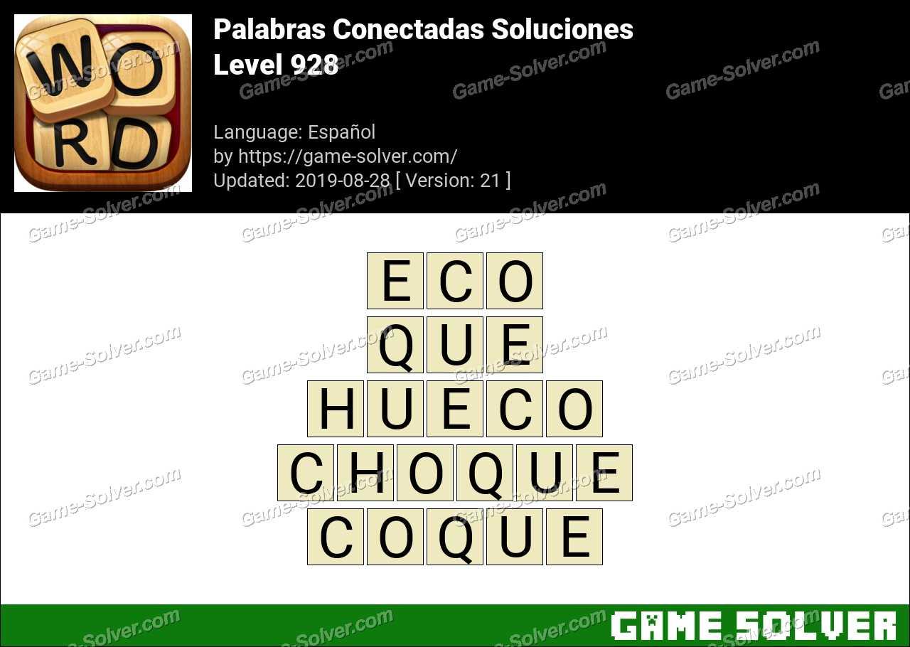 Palabras Conectadas Nivel 928 Soluciones