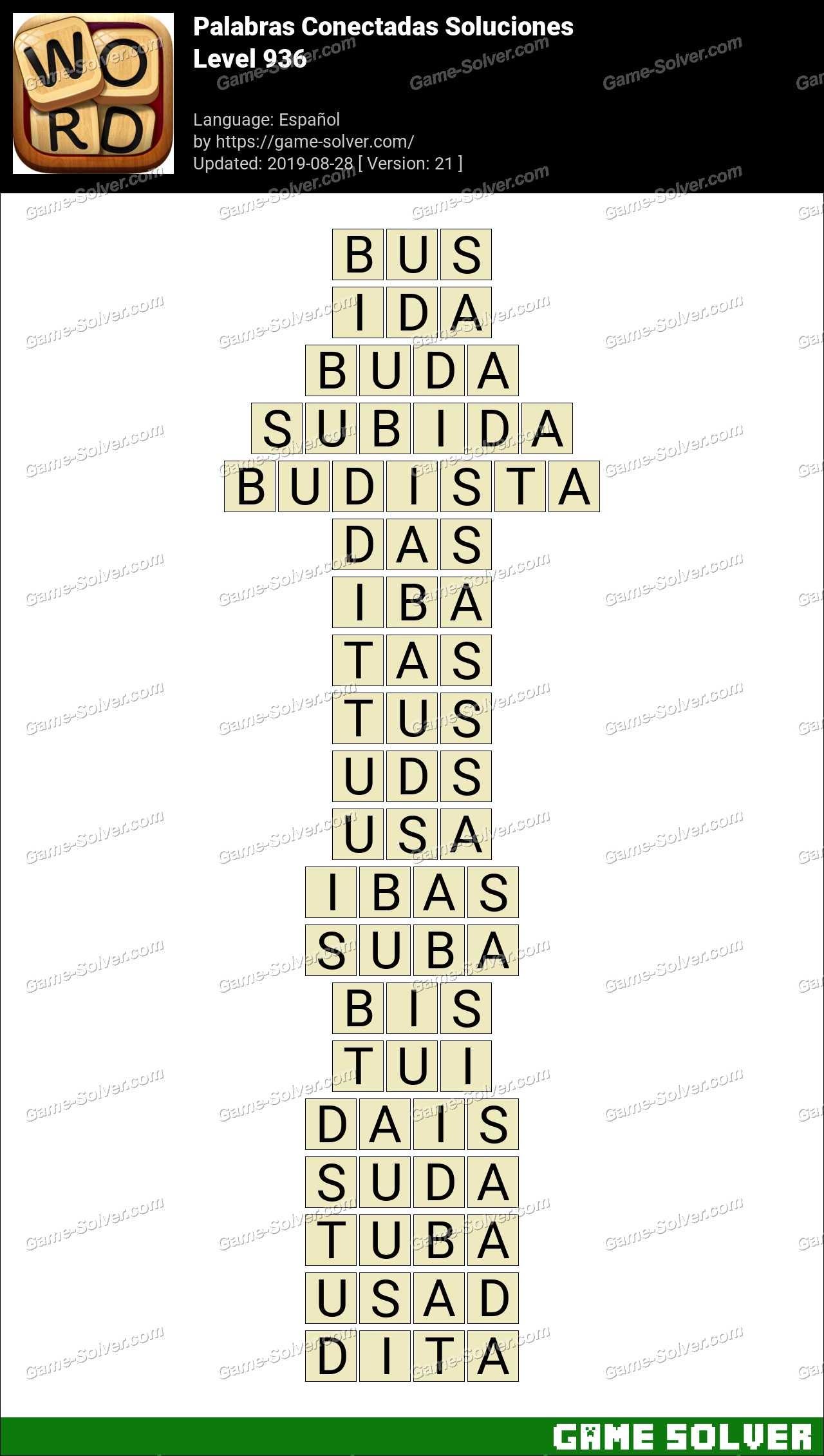 Palabras Conectadas Nivel 936 Soluciones