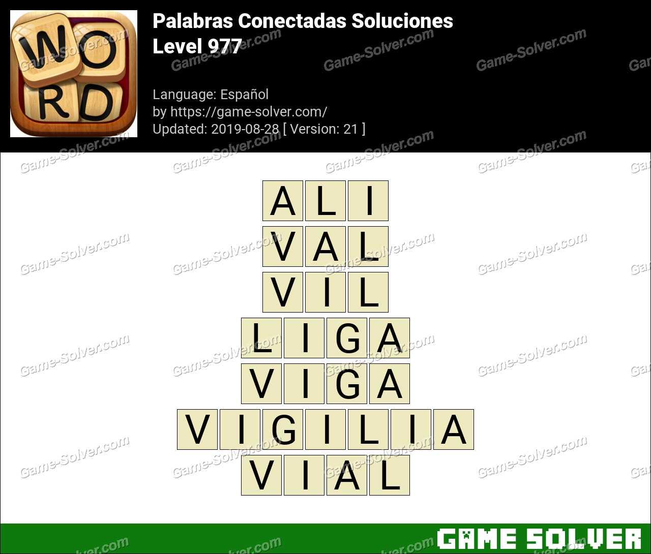 Palabras Conectadas Nivel 977 Soluciones