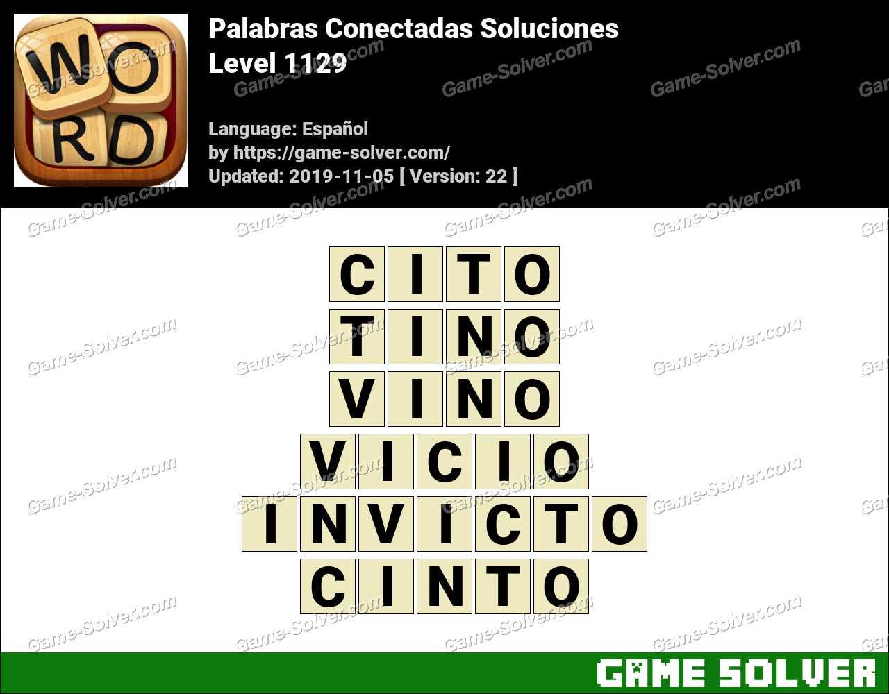 Palabras Conectadas Nivel 1129 Soluciones