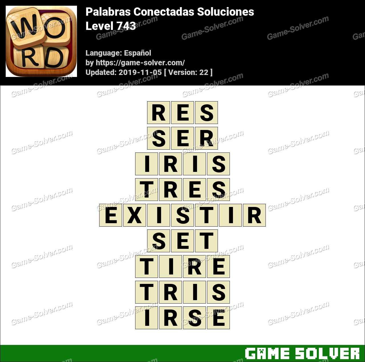 Palabras Conectadas Nivel 743 Soluciones