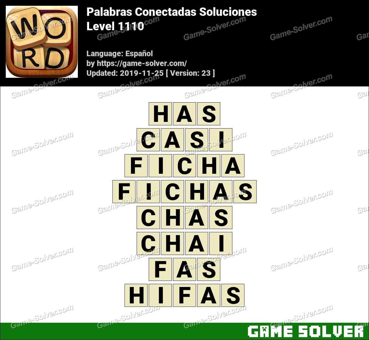 Palabras Conectadas Nivel 1110 Soluciones