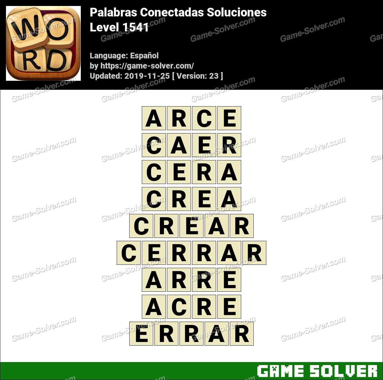 Palabras Conectadas Nivel 1541 Soluciones