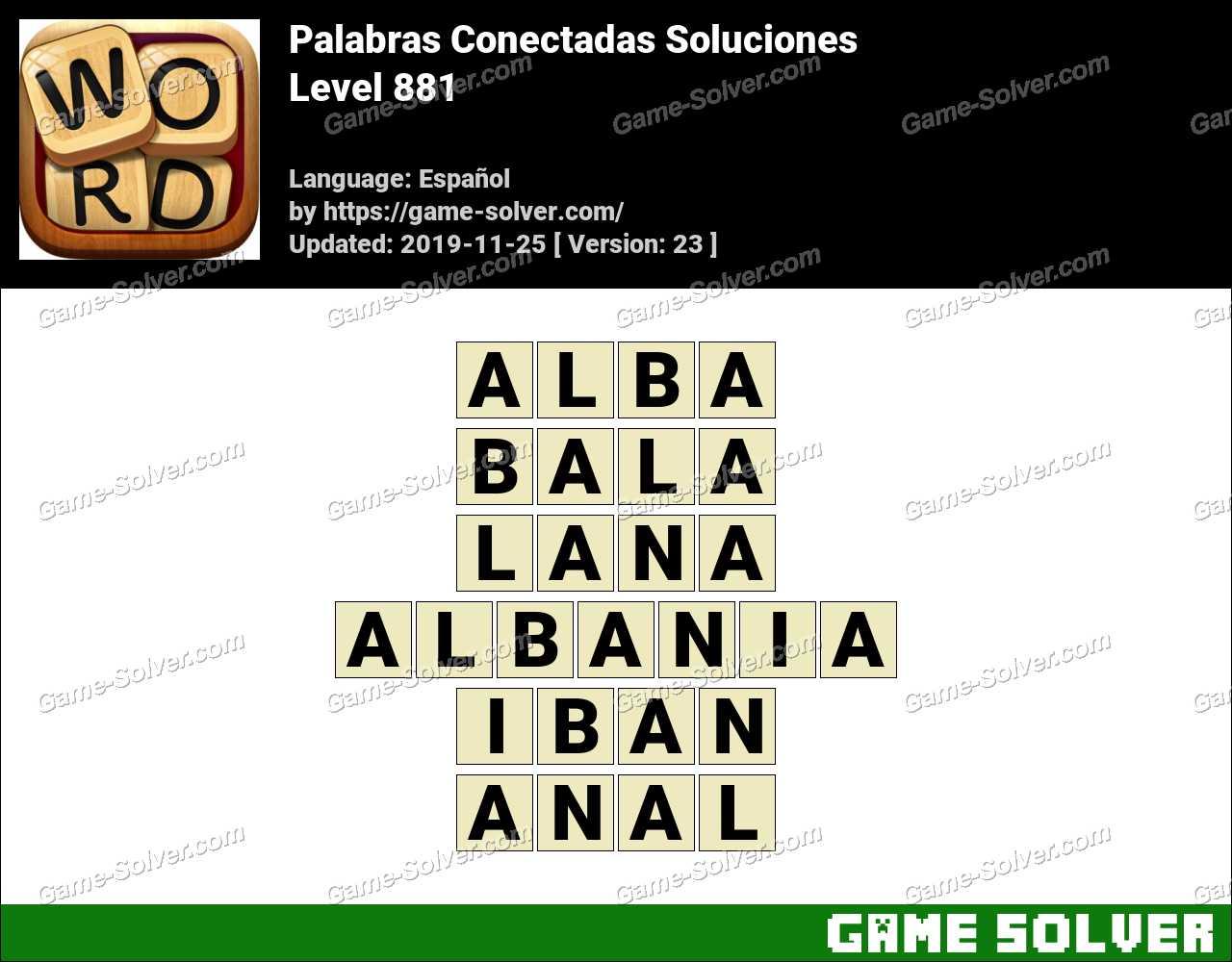 Palabras Conectadas Nivel 881 Soluciones