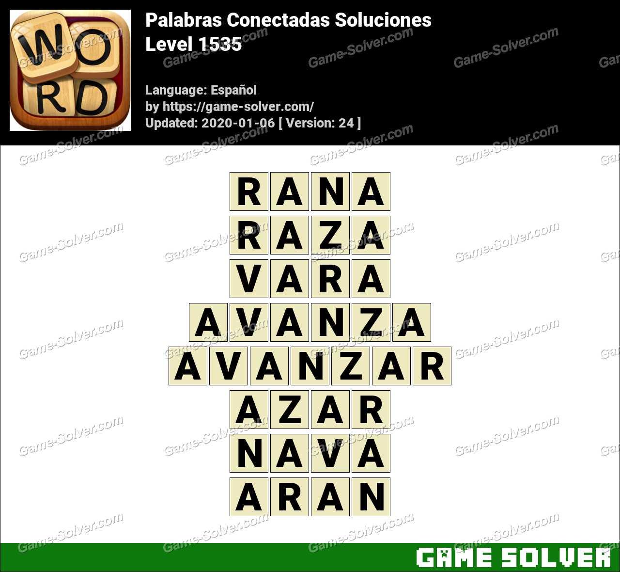 Palabras Conectadas Nivel 1535 Soluciones