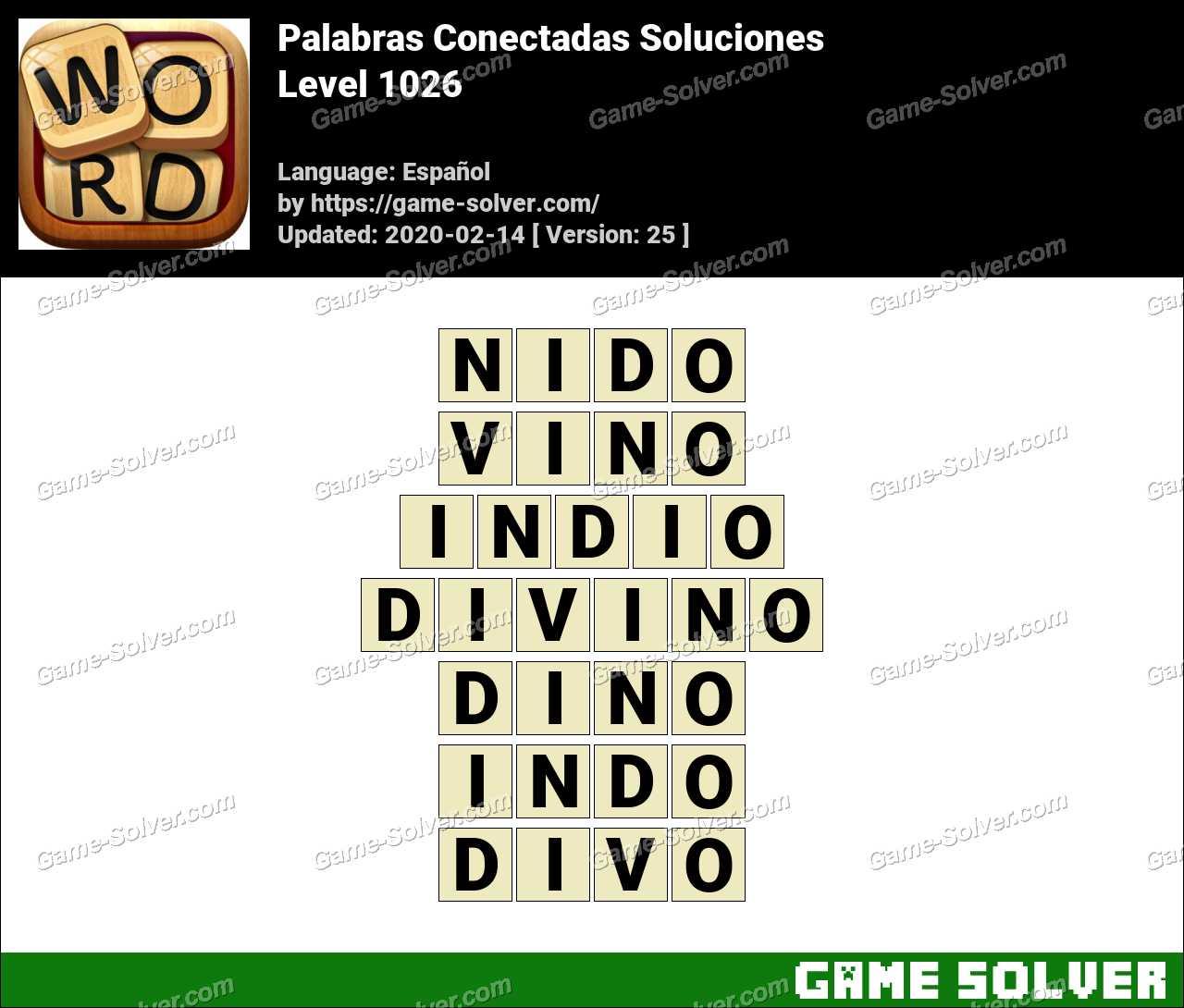 Palabras Conectadas Nivel 1026 Soluciones