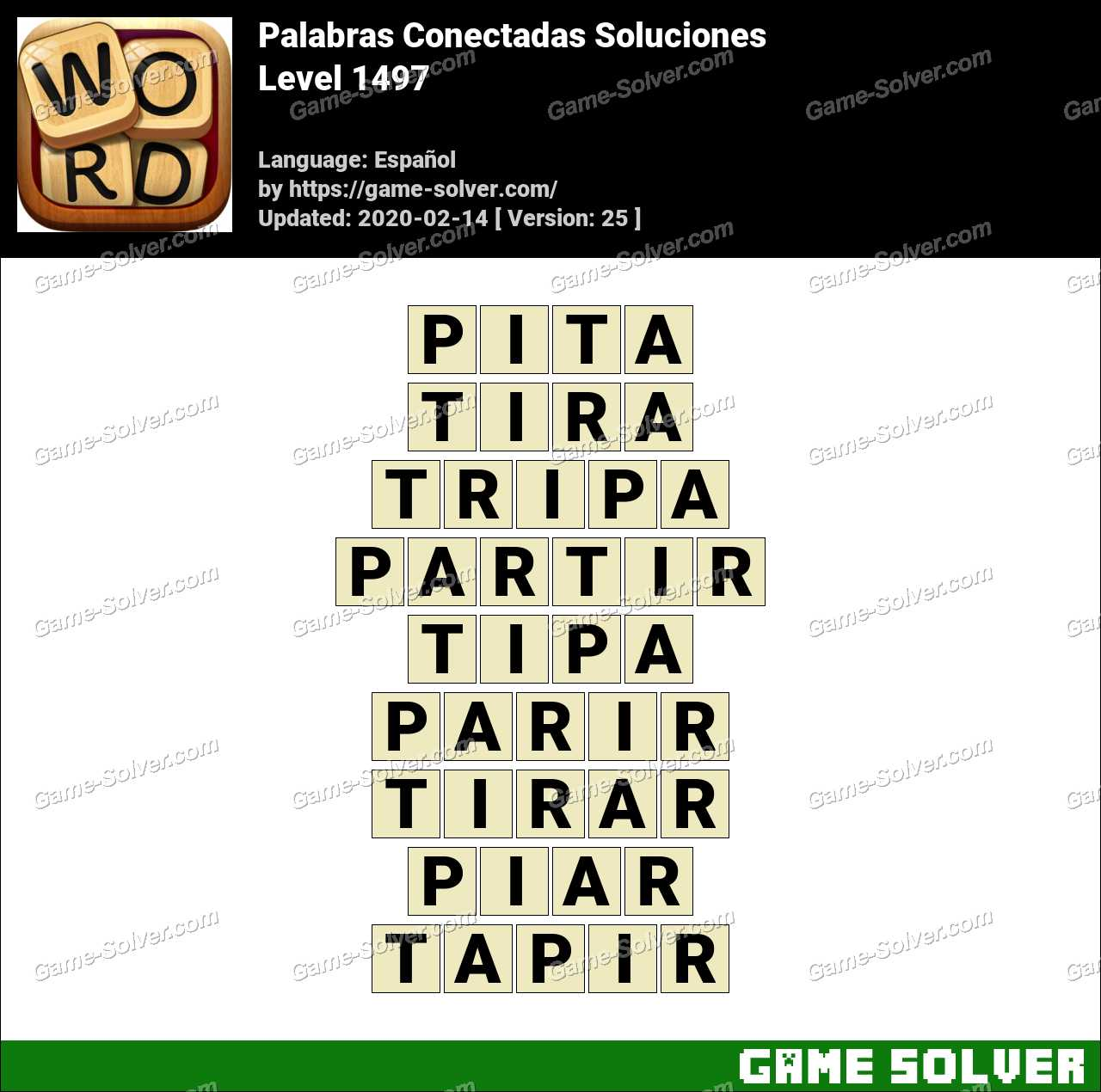 Palabras Conectadas Nivel 1497 Soluciones