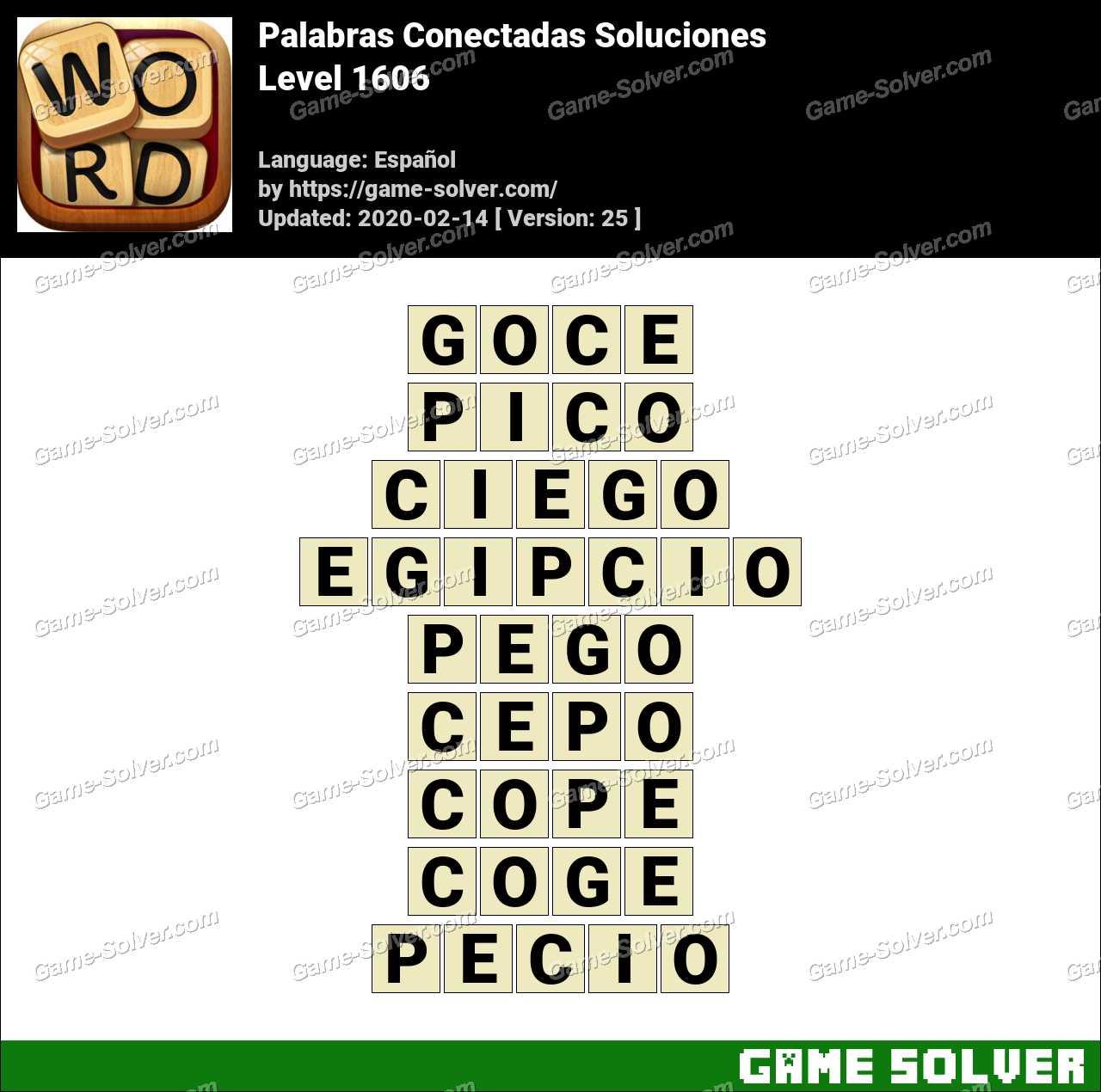 Palabras Conectadas Nivel 1606 Soluciones