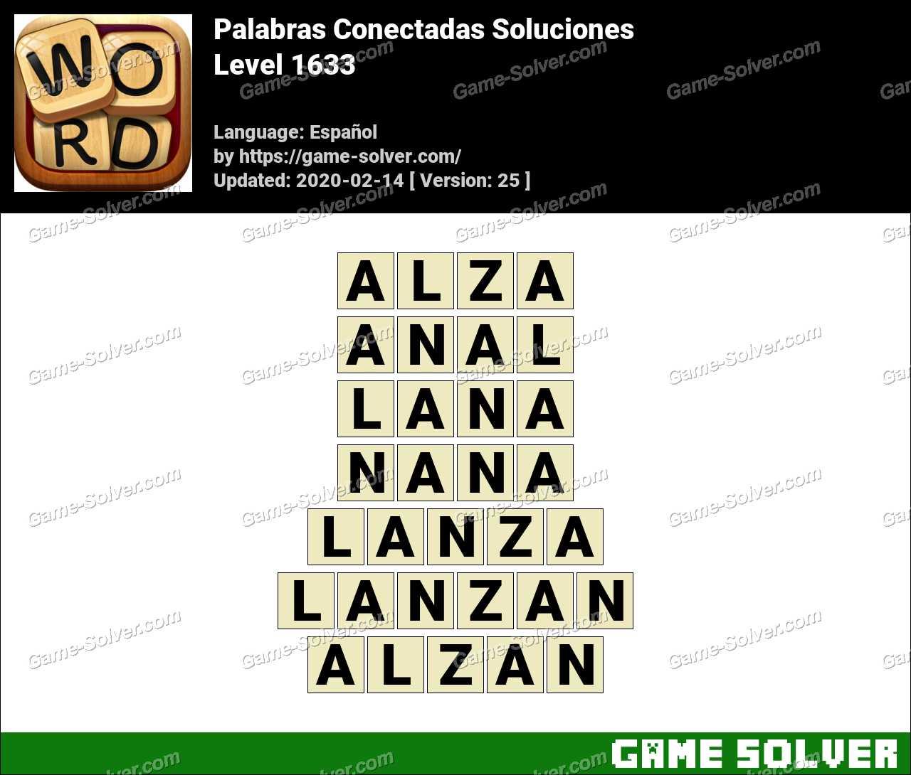 Palabras Conectadas Nivel 1633 Soluciones