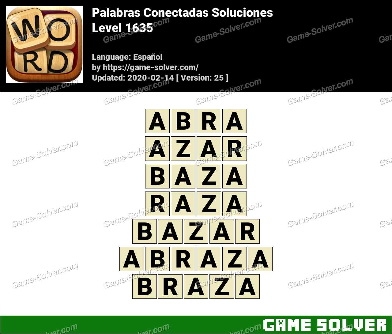 Palabras Conectadas Nivel 1635 Soluciones