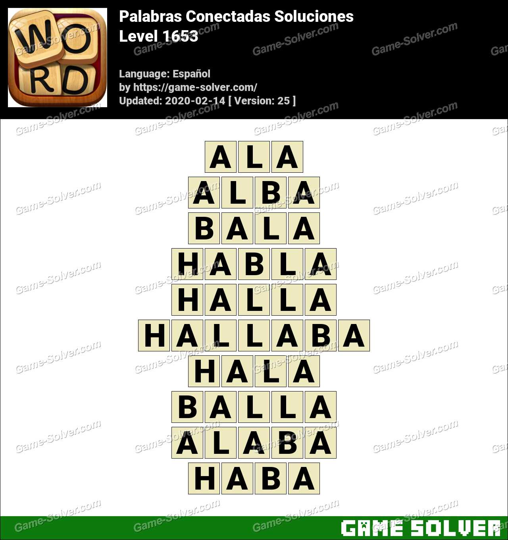 Palabras Conectadas Nivel 1653 Soluciones