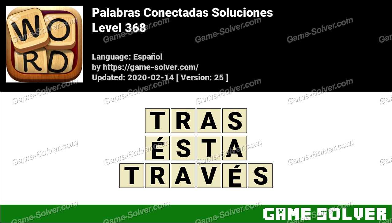 Palabras Conectadas Nivel 368 Soluciones