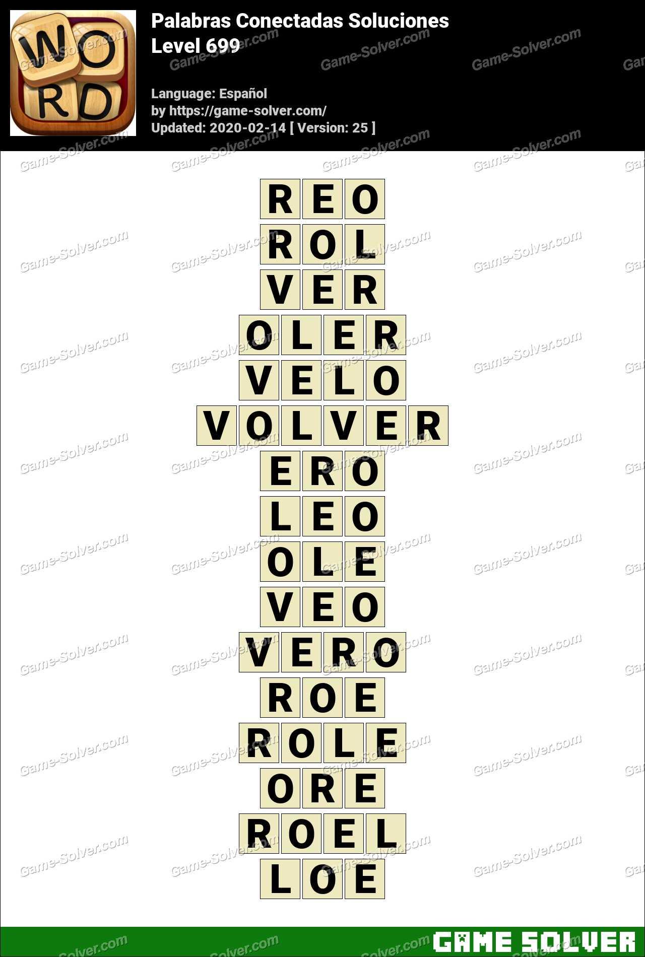 Palabras Conectadas Nivel 699 Soluciones